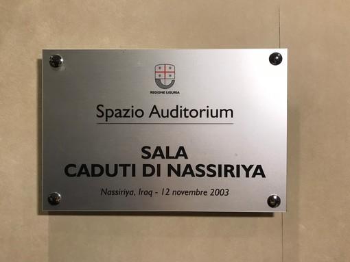 L'auditorium della Regione in piazza De Ferrari intitolato ai caduti di Nassirya