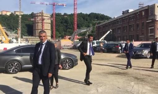 Commemorazione Ponte: l'arrivo di Salvini e Di Maio (VIDEO)