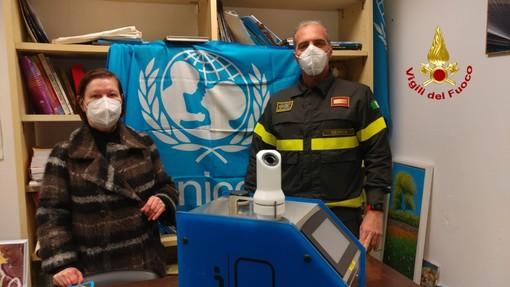 UNICEF: i Vigili del Fuoco di Genova hanno sanificato la sede ligure dell'associazione