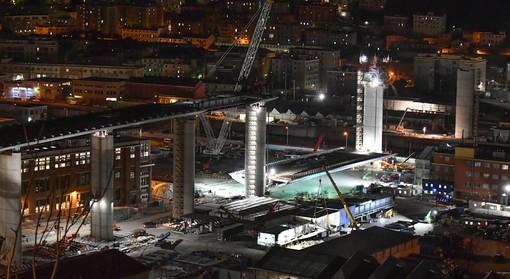 Ferme le lavorazioni in quota del cantiere per il nuovo ponte sul Polcevera a causa del vento forte