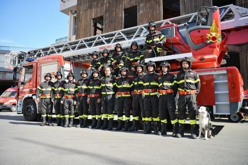 Giuramento di quindici nuovi vigili del fuoco liguri dell'87° corso allievi [FOTO]