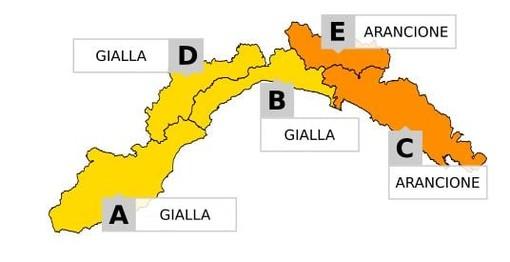 Maltempo in Liguria, domani (16 settembre) allerta meteo per temporali