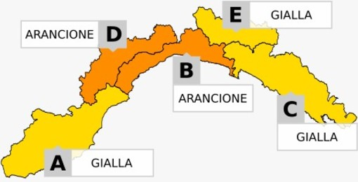 Nuova allerta meteo di Arpal: arancione su Levante Savonese e Val Bormida, invariata altrove