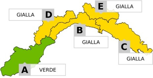 Allerta meteo gialla dell'Arpal per temporali, nuova fase instabile in arrivo sulla Liguria