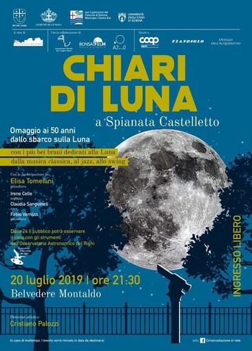 50 anni dall'allunaggio: festa al Belvedere Montaldo di Castelletto