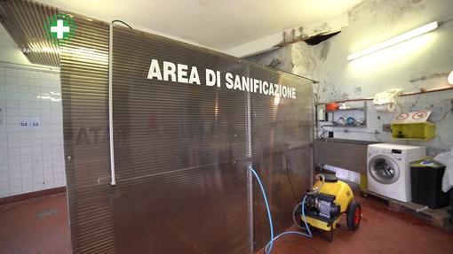 Croce Bianca Genovese: nuova area sanificazione per ridurre i tempi di attesa delle ambulanze (VIDEO e FOTO)