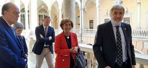 Il sindaco Bucci riceve a Palazzo Tursi il nuovo prefetto Carmen Perrotta