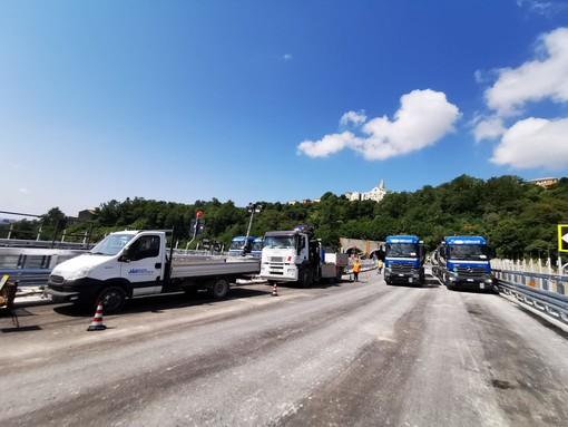 Collaudo del nuovo ponte sul Polcevera: il VIDEO delle operazioni