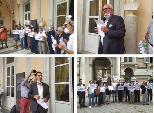 """Il centrosinistra presenta la coalizione per le comunali, ma è scontro con la maggioranza: """"Negato l'uso di Tursi"""" (FOTO e VIDEO)"""