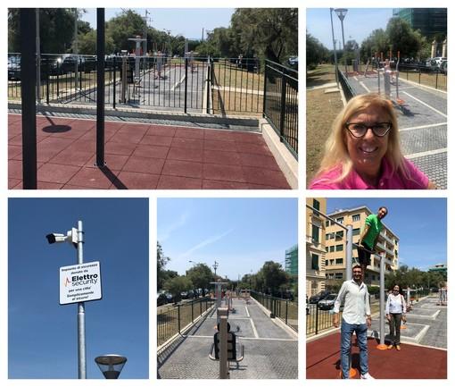 Inaugurato il 'Percorso vita' in via Nazario Sauro ad Albaro (FOTO)