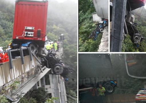 Incidente di Altare: terminate le operazioni di recupero della motrice, tratto autostradale ancora chiuso