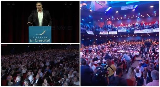 Iniziata a Roma la convention 'L'Italia in crescita' organizzata dal Presidente della Regione Liguria Giovanni Toti, molti gli amministratori locali presenti