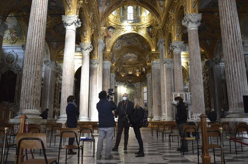 Le meraviglie nascoste delle chiese dei Rolli in mostra grazie a droni e tecnologia digitale (VIDEO e FOTO)