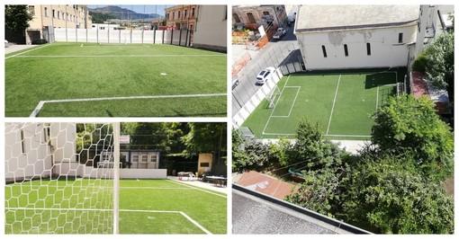 Recuperato il campetto di calcio del Campasso grazie all'omonimo comitato: altro prezioso punto in favore della vivibilità del quartiere (FOTO)