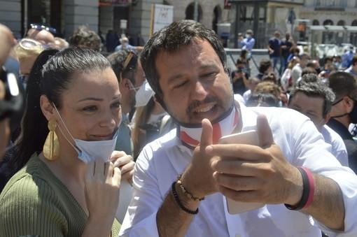 """Matteo Salvini in visita nel capoluogo ligure: """"Il modello Genova è quello vincente"""" (VIDEO e FOTO)"""