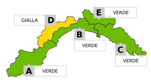 Allerta gialla per neve in Val Bormida e Valle Stura, vento forte su tutta la regione