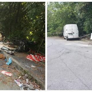 La pulizia di via Albisola e via degli Artigiani a Bolzaneto dopo l'interpellanza presentata dalla Lega