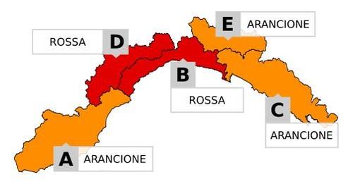 Meteo: scatta l'allerta rossa su Genova dalle 20 di oggi a lunedì