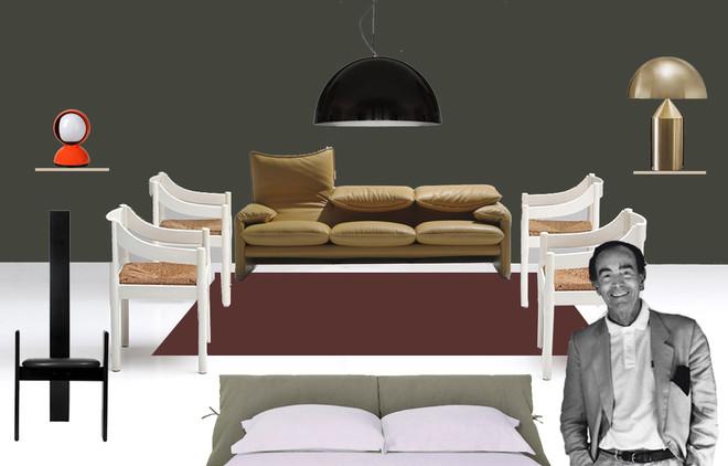 La casa per Vico Magistretti: gli oggetti iconici di design