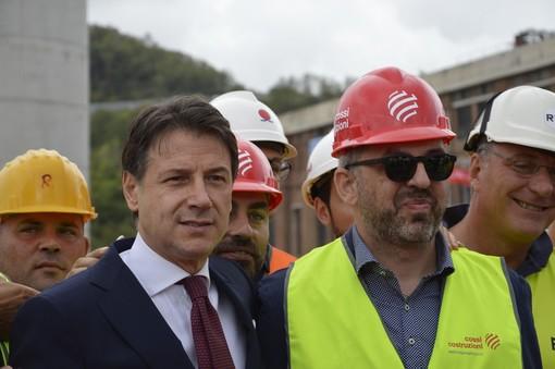 """Cerimonia ponte, Conte: """"Genova ha ridato speranza al Paese"""" (VIDEO)"""
