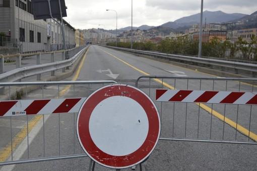 Traffico: chiusa l'Aurelia a Pizzo di Arenzano per allerta meteo