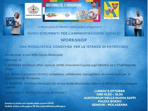 Festival dello Sviluppo Sostenibile: Municipio IV Valbisagno di Genova protagonista da lunedì 5 ottobre