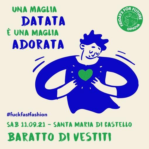 Friday Future for Genova: sabato 11 settembre in programma 'Baratto in collina'
