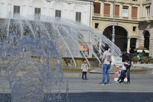 Sabato 16 novembre la fontana di De Ferrari si illumina di bianco