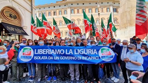 Caos autostrade: la manifestazione a Roma di Forza Italia Liguria