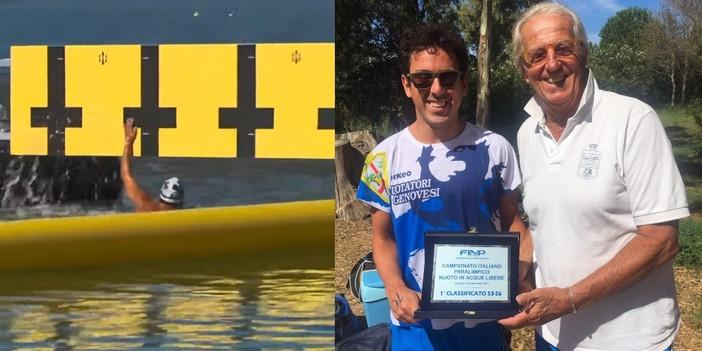 Nuoto paralimpico, il genovese Giovanni Sciaccaluga vince il campionato italiano in acque libere ad Alghero