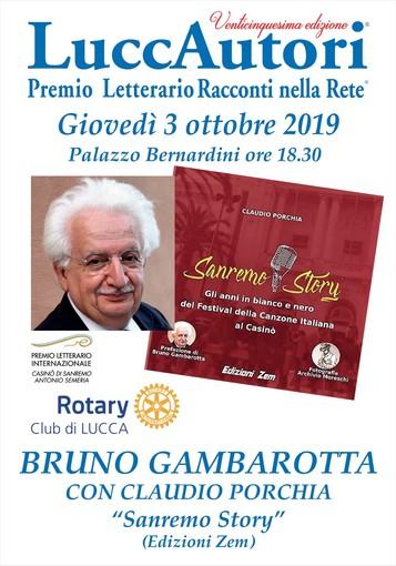 """""""Sanremo Story"""": Gambarotta e Porchia al LuccAutori"""