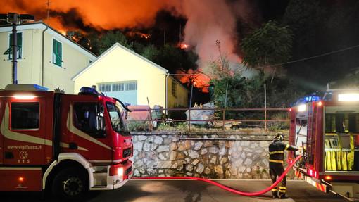 """Incendio Casarza, Muzio: """"Decisiva per lo spegnimento la presa d'acqua del Consorzio irriguo"""""""