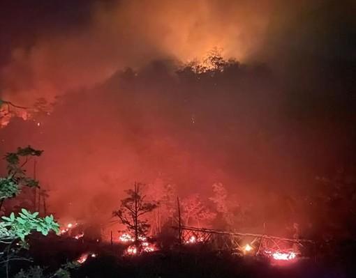 Incendio boschivo a Masone, in mattinata interverranno i mezzi aerei
