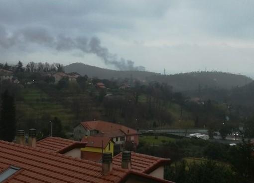 Camion in fiamme sulla A10, tra Varazze e Arenzano