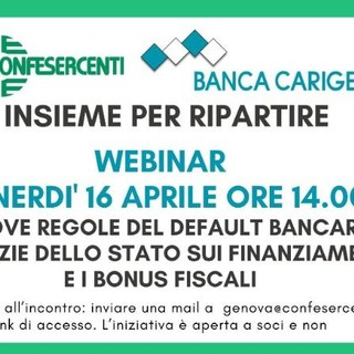 Webinar di Carige e Confesercenti Genova 'Insieme per ripartire'