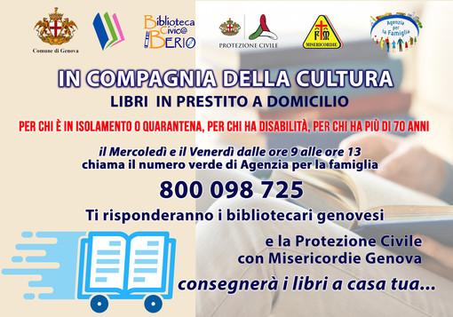 Consegna di libri delle biblioteche al domicilio per chi è in quarantena, isolamento, disabili e over 70 da venerdì 9 aprile