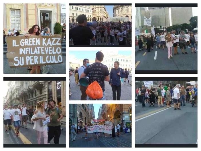 Manifestazioni contro il green pass, fioccano le denunce della digos ai partecipanti