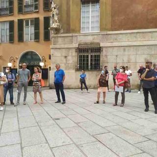 Mobility Day, una trentina in piazza a Genova a chiedere l'applicazione del piano straordinario sui trasporti (foto e video)