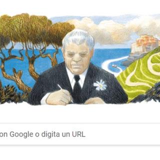 Eugenio Montale: nel 125° anniversario della sua nascita il doodle di Google a lui dedicato