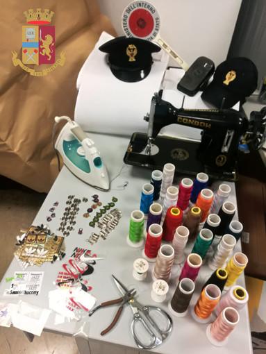 Laboratorio della contraffazione scoperto in centro storico