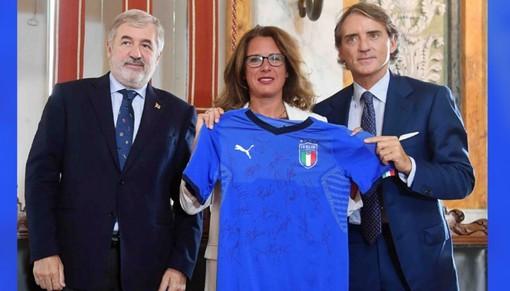 Anche gli azzurri del calcio e Alex Zanardi in campo per Genova
