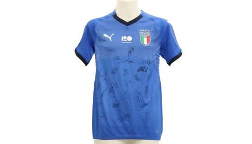 La maglia della Nazionale all'asta con Stelle nello Sport per le realtà colpite dal crollo di Ponte Morandi