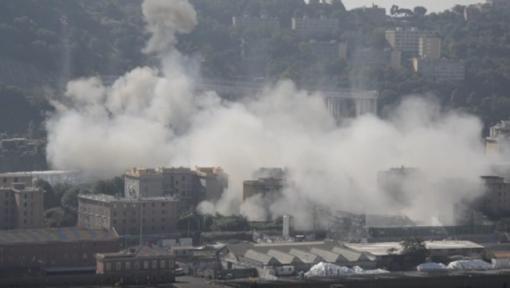 Demolizione Morandi, le dichiarazioni di RINA (VIDEO DAL DRONE)