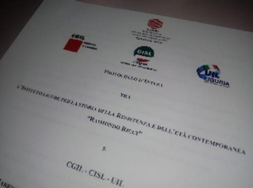 """Firmata l'intesa tra l'Ilsrec """"Raimondo Ricci"""" di Genova e Cgil, Cisl, Uil della Liguria"""