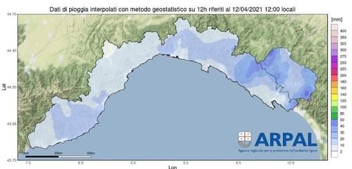 Arpal emana una nuova allerta per pioggia: zona gialla solo a Levante