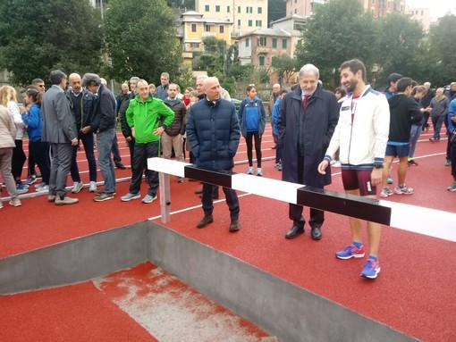 Inaugurata la nuova pista di atletica leggera a Villa Gentile