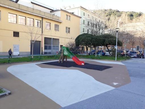 Manutenzione strade, marciapiedi e aree giochi: i lavori a Voltri e Sestri Ponente (FOTO)