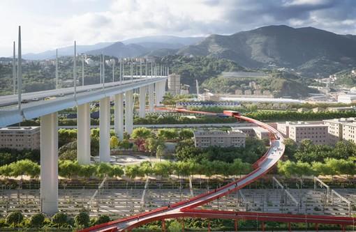 """Ecco il Parco del Ponte di Genova, Toti: """"Un grande progetto di riqualificazione urbana che guarda al futuro senza mai dimenticare le 43 vittime del Morandi"""""""
