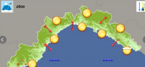 Meteo: giornata di bel tempo su genovese e levante, in arrivo forti raffiche di vento