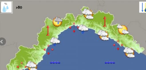 Meteo: giornata nuvolosa con possibili rovesci sul genovese